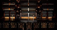 One of the coolest bar designs in NYC - Particularly love the glass bottles on the back shelves.   The NoMad Hotel | New York City Luxury Hotels | Midtown Manhattan Luxury Hotels