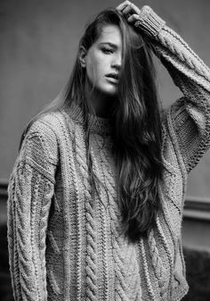 Big jumpers and long messy hair - SO much my style in my twenties :)