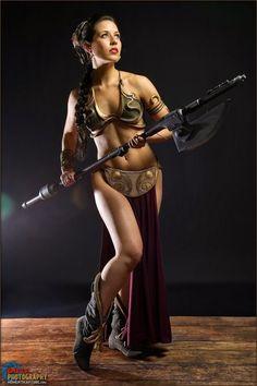 Cosplay sexy d'une esclave de Star Wars #sexy