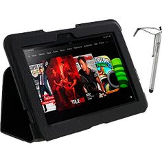 #Business, #LaptopSleeves, #RooCASE - rooCASE Ultra-Slim Case w/ Stylus for Kindle Fire HD 8.9 Black - rooCASE Laptop Sleeves