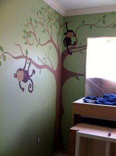 Pop Monkey Mural Unfurnished- Evita Wolf