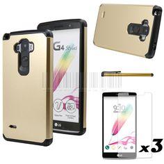 For LG G4 Stylus/G4 Note/G Stylo LS770 Anti-knock Tank Armor Slim Hybrid Hard Case Cover With Pen+ Film (Not for LG G4)