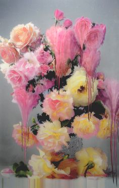 Photo- painting by Nick Knight.  On show now at SHOWstudio, 11 OCTOBER 2012 - 21 DECEMBER 2012