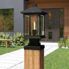 Find the Perfect Landscape Lighting Design for Your Backyard Exterior Light Fixtures, Outdoor Light Fixtures, Exterior Lighting, Outdoor Lighting, Yard Lighting, Lighting Ideas, Outdoor Post Lights, Outdoor Pillar Lights, Driveway Lighting