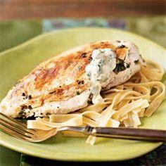 Lemon-Basil Chicken with Basil Aioli Recipe | MyRecipes.com
