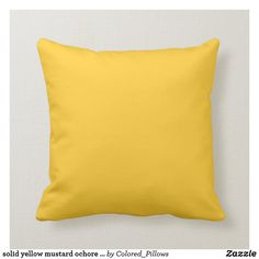 Shop Retro 1956 Mid-Century-Modern Ranch House Yellow Throw Pillow created by kischtorium. Yellow Throw Pillows, Colorful Pillows, Decorative Throw Pillows, Yellow Duvet, Classic Pillows, Modern Pillows, Baby Yellow, Yellow And Brown, Bright Yellow