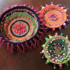 boho woven bowls