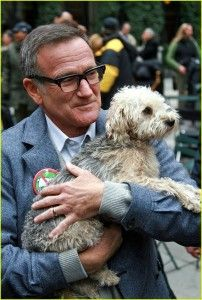 Legend...Robin Williams- and his dog...