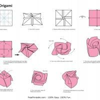 Repin and share this free and fun origami rose printable!