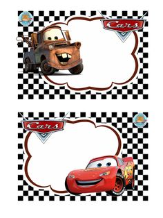 Gafetes Source by Disney Cars Party, Disney Cars Birthday, Cars Birthday Parties, Cars Birthday Invitations, Cars Invitation, Christening Decorations, Lightening Mcqueen, Leo Birthday, School Labels