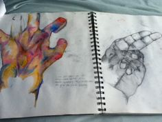 Hand studies - GCSE Art sketchbook