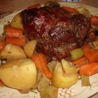 Thanks to my mom, this has become my go-to, never fail pot roast:  1 beef roast, I prefer chuck roast to fall apart.  1 pkg. hidden valley ranch dressing mix  1 pkg. brown gravy mix  1 pkg. Italian dressing mix ( I substitute Lipton Onion soup mix)  1/2 Cup water  Throw it in the crock pot and cook on low for 6 hours. Serve over rice.