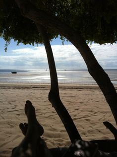 Mozambique - Vilanculos Beach Lodge near Inhassaro town - just across the water from Paradise Island/Santa Carolina (Indian Ocean) 3 km by 0.5 km in size, three beautiful beaches with coral reefs close to the shore.