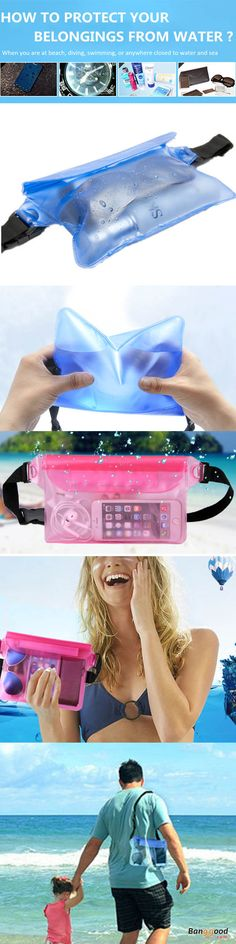 US$5.76 + Free shipping. Can be used while you are diving, swimming, climbing, rafting, having SPAs or other in-water. Three layers design on the top of the waterproof bag make it easy to open and lock the bag. Large Capacity allows 1 lotion, 1 sunglasses, 1 wallet and 2 phones, etc.