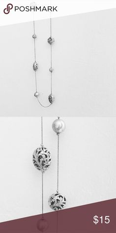 Intricate silver balls necklace Long silver balls necklace. You can loop it to make it a double necklace. Jewelry Necklaces