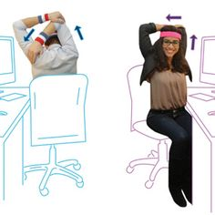 Most of us spend the majority of our day sitting. By doing this, our posture and ability to functional move is hindered. Take a look at this article that illustrates some methods of exercises when you're sitting at work, school, or at home!