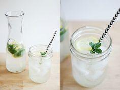 drink: rose water lemonade