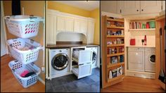 Laundry rooms aren't usually big or spacious. In most homes, they simply occupy enough space to do the task. There's not much attention given to it, hence, it's not surprising that it's often disorganized, dank or dark. Your laundry room need not be one if you know of ways to organize yours at home. And clever storage ideas can spell the difference between a laundry room that you loathe or one that you like!. Now, we all know that ready-to-use storage systems can be expensive ...