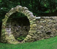 how to build a dry stone arch
