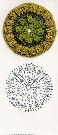 Crochet Granny Square Pattern Diagram Yarns 22 Ideas For 2019 Crochet Coaster Pattern, Crochet Blocks, Granny Square Crochet Pattern, Crochet Diagram, Crochet Chart, Crochet Squares, Crochet Granny, Freeform Crochet, Granny Squares