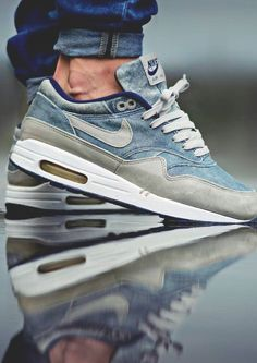 shanellbklyn: sweetsoles: Nike Air Max 1 'Dirty Denim' (by Joel Ulrich)  These Is it only me who's infuriated by the fact that most of these dope  kicks are ...