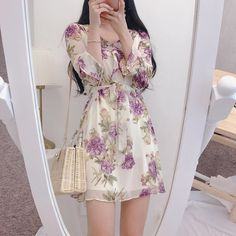 Korean Girl Fashion, Ulzzang Fashion, Harajuku Fashion, Cute Fashion, Korean Dress, Korean Outfits, Classy Outfits, Girl Outfits, Princess Inspired Outfits