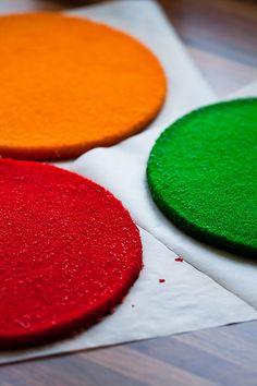 Regenbogen-Kuchen (Kuchen Regenbogen)