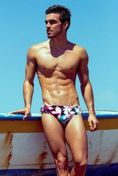Paradise Print Swim Brief