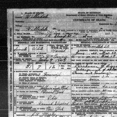 Hillsdale :: Death Records, 1897-1920