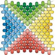 Мозаичный четырёхугольник с ндебельскими гранями
