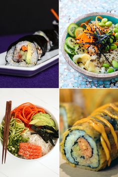 Homemade sushi seems scary, but it's easier than you think. If you've never attempted it, these recipes will convince you to try it once and for all. The best part of having DIY sushi recipes under your belt is they're there any time a craving strikes and Diy Sushi, Homemade Sushi, Sushi Sushi, Sushi Rolls, Sushi Time, Asian Recipes, Healthy Recipes, Ethnic Recipes, Sushi Comida