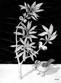 VEGETAVISIÓN V El silencio de las plantas.  Serie de lápiz sobre papel. SAZUME www.sabinablasco.blogspot.com