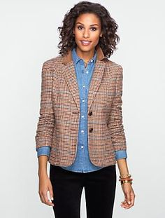 Want. Size 6? Talbots - Houndstooth Riding Blazer