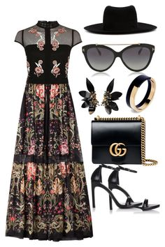 """""""Untitled #867"""" by devinbillingslea ❤ liked on Polyvore featuring Roberto Cavalli, River Island, Maison Michel, Gucci, Marni, Stuart Weitzman and Tom Ford"""