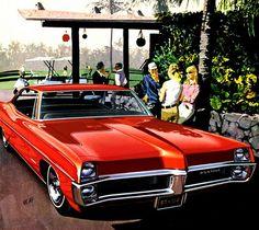 1967 Pontiac Catalina 4-Door Hardtop in Regimental Red - 'Kona Foursome' Early round of golf, Kona, Hawaii: Art Fitzpatrick and Van Kaufman