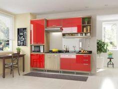 Cozinha Compacta Multimóveis Sicilia com Balcão - 11 Portas 3 Gavetas
