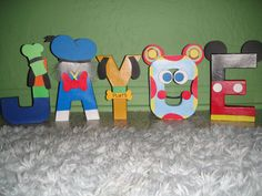 Mickey Mouse Clubhouse Character Letter Art by GunnersNook on Etsy
