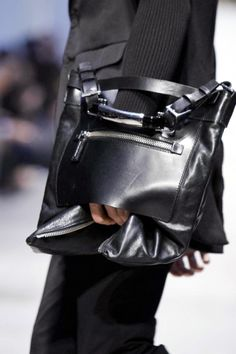 Costume National menswear Fall 2012. Cool bag!