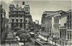 Antiga foto da Ladeira e Mosteiro de São Bento em Salvador, Bahia, Brasil.