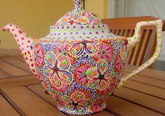 Hand painted Tea Set on Etsy .. really pretty!