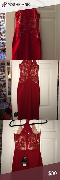 Rare London Midi Red Dress Love this elegant dress. NBWB...tags still on. Accepting most offers. Rare London Dresses Midi