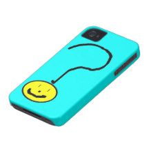 question mark emoji, digital art by kids :) iPhone 4 covers