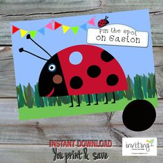 INSTANT DOWNLOAD   Pin the Spot on Gaston  A3 by Invitingbyrenee
