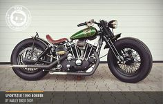 Sportster 1000 bobber by Harley biker shop | Bobber Inspiration - Bobbers and Custom Motorcycles November 2014
