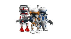 Chibi Lego builds ( CHIBO'S ) STAR WARS - Clones Red, Blue and Orange