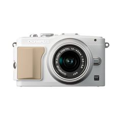 Olympus E-PL5 Mirrorless Digital Camera with 14-42mm Lens (White) (5870 MAD) ❤ liked on Polyvore featuring fillers, camera, electronics, accessories and other