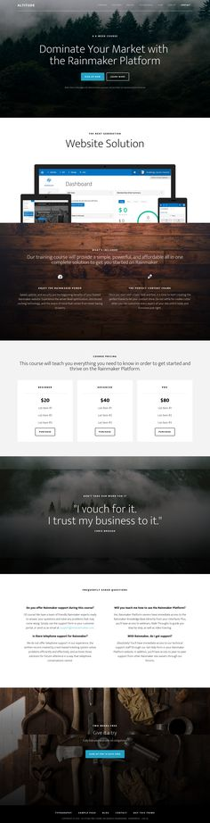 Theme Options Use options to get up and running in minutes and start customizing your new site with just a few clicks of the mouse. eCommerce This is a flexible eCommerce theme that is The Rainmaker, Corporate Business, Premium Wordpress Themes, Landing, Ecommerce, E Commerce