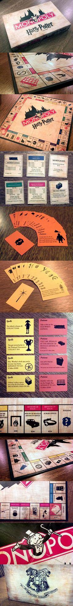 Amazing Harry Potter Monopoly…I want!!!