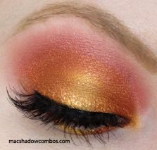 MAC Eyeshadows Used: Amber Lights (inner 1/2 Of Lid) Coppering (