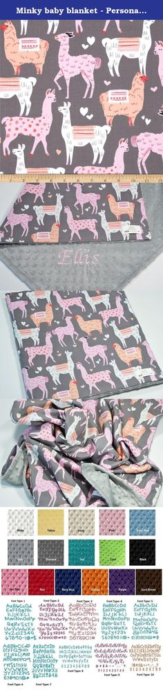 Minky baby blanket - Personalized Baby llama minky blanket - Zoo blanket - baby shower gift - llama nursery - Crib blanket - Newborn. Personalized Llama minky baby blanket for baby shower gift. Newborn gift, swaddling, receiving, stroller, crib, infant, toddler, car seat blanket. This gorgeous baby minky blanket is a great baby shower gift / newborn gift! This blanket is prefect for urban zoology nursery decor. This lovely minky baby blanket can be personalized with your choice of baby's...
